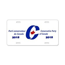 Conservative Party of Canada Aluminum License Plat