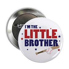 little brother baseball Button