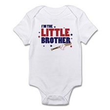 little brother baseball Infant Bodysuit