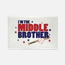 middle brother baseball Rectangle Magnet