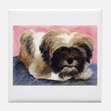 Lhasa Puppy Tile Coaster