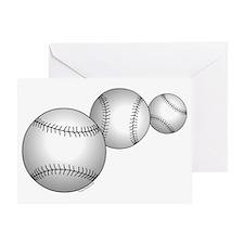 Three Baseballs Greeting Card