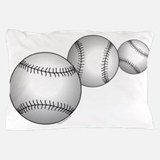 Three Baseballs Pillow Case