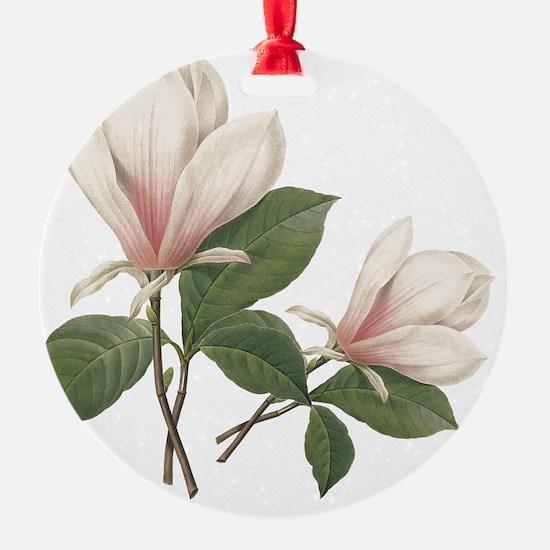 Vintage botanical art, elegant  mag Ornament