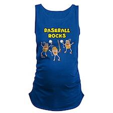 Three Baseball Rocks (Dark Prod Maternity Tank Top
