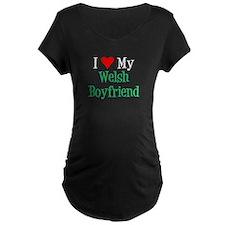 Love My Welsh Boyfriend Maternity T-Shirt
