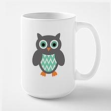 Mint and Grey Owl Mugs