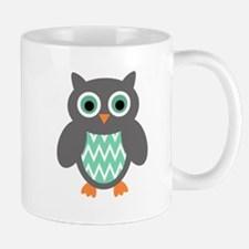 Mint and Grey Owl Mugs
