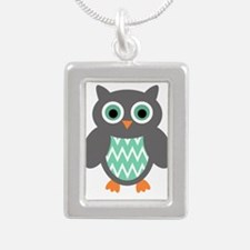 Mint and Grey Owl Necklaces