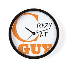 Crazy Cat Guy Wall Clock