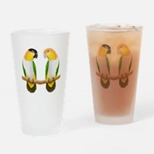 Funny Conure Drinking Glass