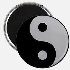 ClockWordArt YingYang design Magnets