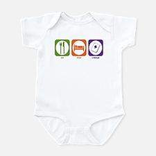 Eat Sleep Cribbage Infant Bodysuit