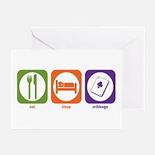 Eat Sleep Cribbage Greeting Cards (Pk of 10)