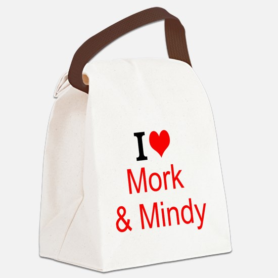 I Love Mork and Mindy Canvas Lunch Bag