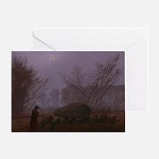 Caspar David Friedrich - A Walk at D Greeting Card