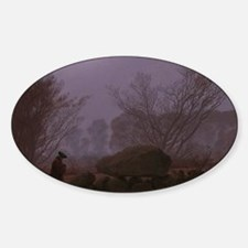 Caspar David Friedrich - A Walk at  Sticker (Oval)