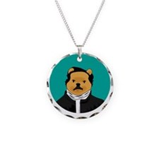 Winnie the Poe Necklace Circle Charm