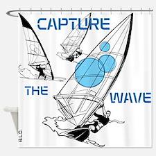 BLO Wind Surfer design Shower Curtain