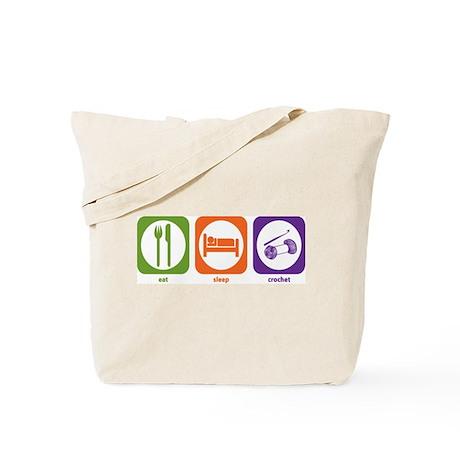 Eat Sleep Crochet Tote Bag