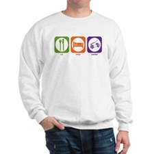 Eat Sleep Crochet Sweatshirt