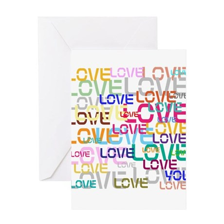BLO Love design Greeting Cards