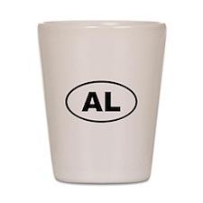 Albania AL Shot Glass