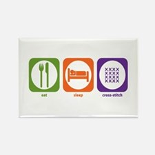 Eat Sleep Cross-stitch Rectangle Magnet (10 pack)