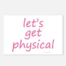 let's get physical pink Postcards (Package of 8)