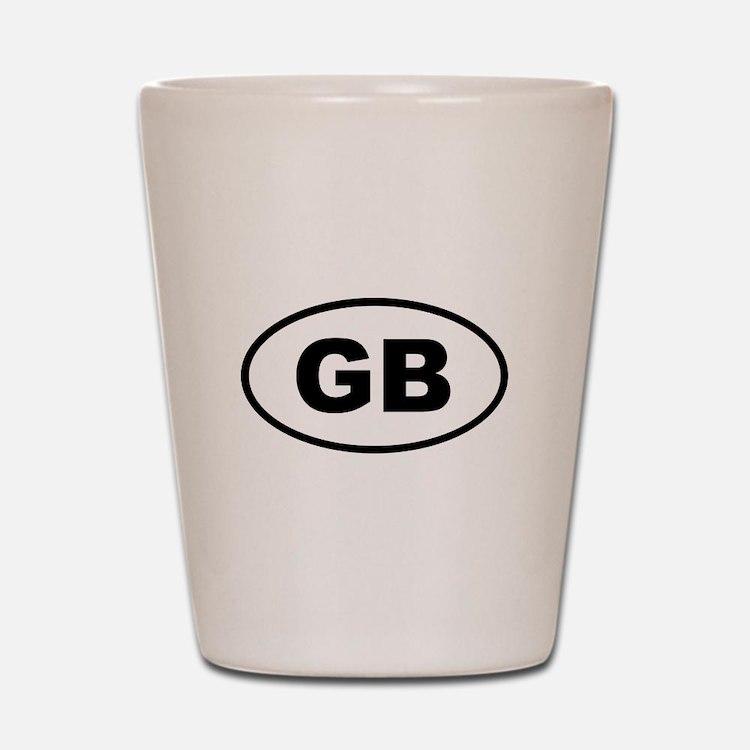 Great Britain GB Shot Glass