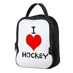 I LOVE HOCKEY Neoprene Lunch Bag