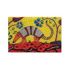 Armadillo Original Art Rectangle Magnet