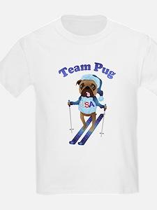 Team Pug Skier - Olympugs T-Shirt
