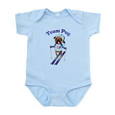 Team Pug Skier - Olympugs Infant Bodysuit