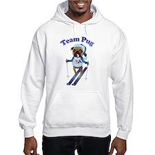 Team Pug Skier - Olympugs Hoodie
