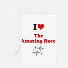 I Love the Amazing Race Greeting Cards