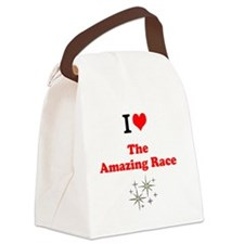 I Love the Amazing Race Canvas Lunch Bag