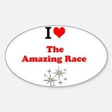 I Love the Amazing Race Decal