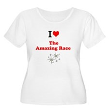 I Love the Amazing Race Plus Size T-Shirt