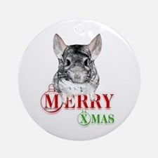 Chin Merry XMas2 Ornament (Round)