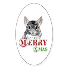 Chin Merry XMas2 Oval Decal