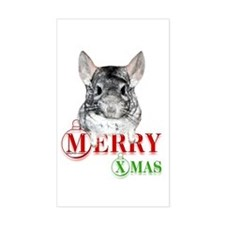 Chin Merry XMas2 Rectangle Bumper Stickers