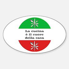 Cuore Della Casa Sticker (Oval)