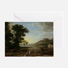 Claude Lorrain - Landscape with Merc Greeting Card