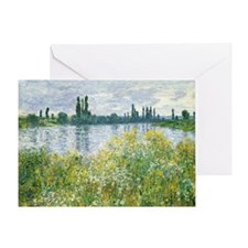 Claude Monet - Banks of the Seine Greeting Card