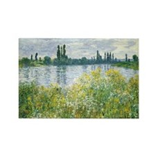 Claude Monet - Banks of the Seine Rectangle Magnet