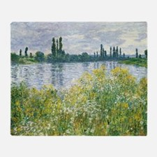 Claude Monet - Banks of the Seine Throw Blanket