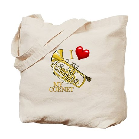 I Love My CORNET Tote Bag