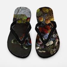 Claude Monet - Still Life with Flowers  Flip Flops