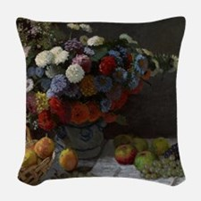 Claude Monet - Still Life with Woven Throw Pillow